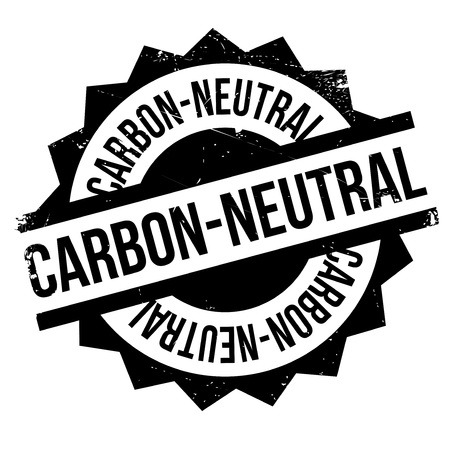co2 neutral: Carbon-neutral stamp. Grunge design with dust scratches. Effects can be easily removed for a clean, crisp look. Color is easily changed. Illustration