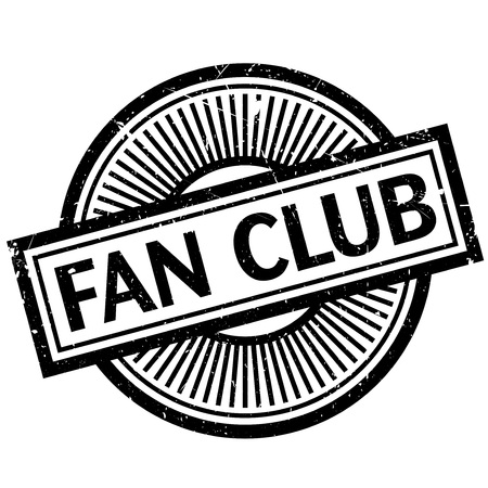 Fan club stamp. Grunge design with dust scratches. Effects can be easily removed for a clean, crisp look. Color is easily changed. Illustration