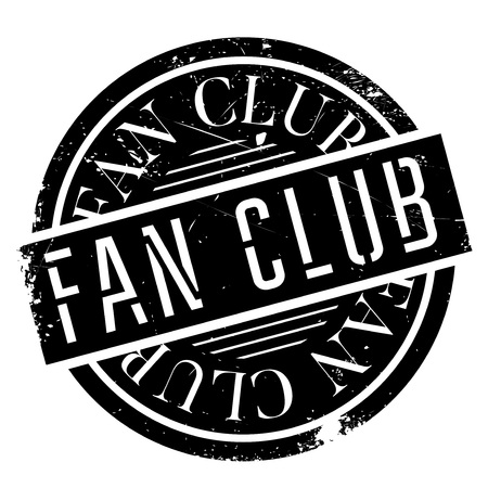 Fan club stamp. Grunge design with dust scratches. Effects can be easily removed for a clean, crisp look. Color is easily changed. Иллюстрация