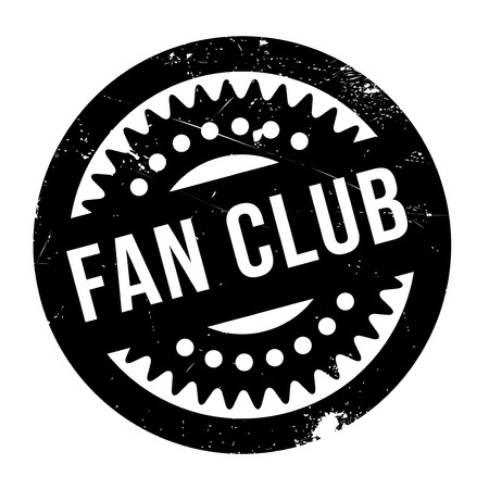 Fan club stamp. Grunge design with dust scratches. Effects can be easily removed for a clean, crisp look. Color is easily changed. Illusztráció