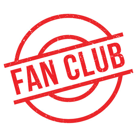 Fan club stamp. Grunge design with dust scratches. Effects can be easily removed for a clean, crisp look. Color is easily changed. Vettoriali