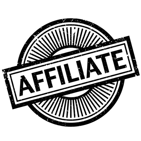 Affiliate stamp. Grunge design with dust scratches. Effects can be easily removed for a clean, crisp look. Color is easily changed. Illustration