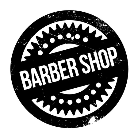 beautician: Barber shop stamp. Grunge design with dust scratches. Effects can be easily removed for a clean, crisp look. Color is easily changed.