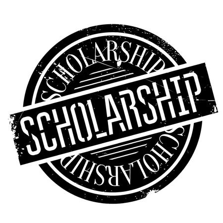 on the comprehension: Scholarship stamp. Grunge design with dust scratches. Effects can be easily removed for a clean, crisp look. Color is easily changed.