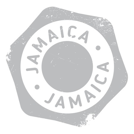 antilles: Jamaica stamp. Grunge design with dust scratches. Effects can be easily removed for a clean, crisp look. Color is easily changed. rubber grunge Illustration
