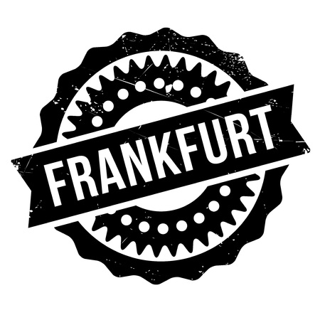 frankfurt germany: Frankfurt stamp. Grunge design with dust scratches. Effects can be easily removed for a clean, crisp look. Color is easily changed. rubber grunge