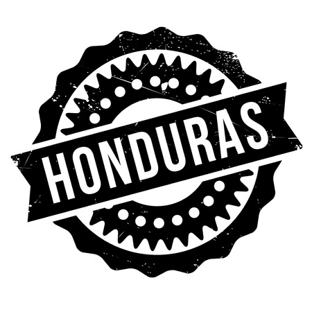 bandera honduras: Honduras stamp. Grunge design with dust scratches. Effects can be easily removed for a clean, crisp look. Color is easily changed. rubber grunge