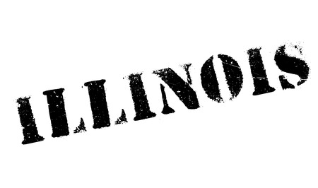 american midwest: Illinois stamp. Grunge design with dust scratches. Effects can be easily removed for a clean, crisp look. Color is easily changed. rubber grunge