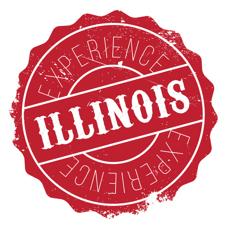 midwest: Illinois stamp. Grunge design with dust scratches. Effects can be easily removed for a clean, crisp look. Color is easily changed. rubber grunge