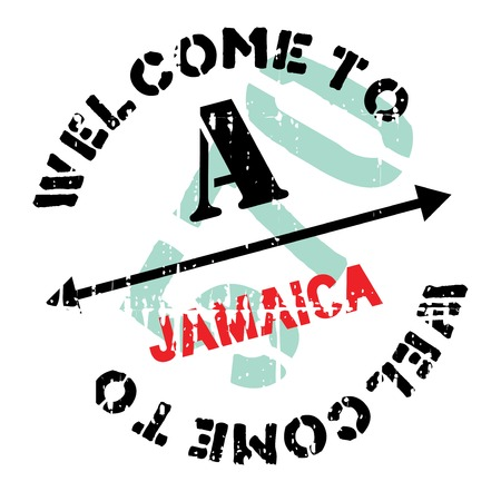 kingston: Jamaica stamp. Grunge design with dust scratches. Effects can be easily removed for a clean, crisp look. Color is easily changed. rubber grunge Illustration