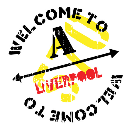 Liverpool stamp. Grunge design with dust scratches. Effects can be easily removed for a clean, crisp look. Color is easily changed. rubber grunge