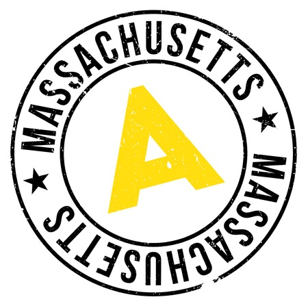 Massachusetts stamp. Grunge design with dust scratches. Effects can be easily removed for a clean, crisp look. Color is easily changed. rubber grunge