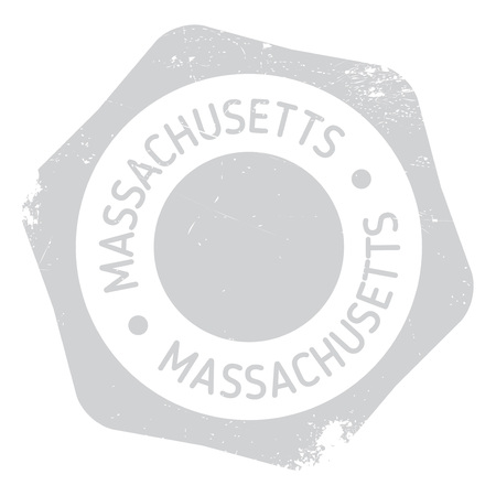new england: Massachusetts stamp. Grunge design with dust scratches. Effects can be easily removed for a clean, crisp look. Color is easily changed. rubber grunge