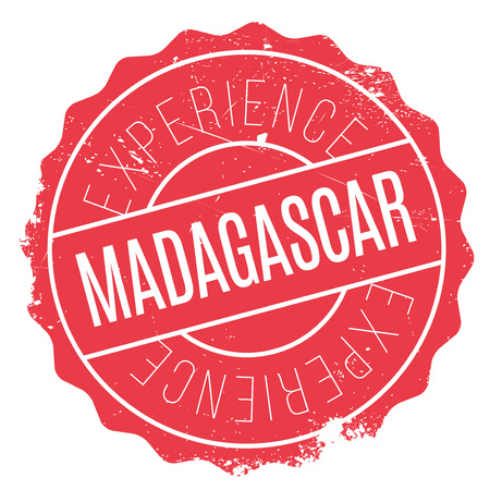 Madagascar stamp. Grunge design with dust scratches. Effects can be easily removed for a clean, crisp look. Color is easily changed. rubber grunge