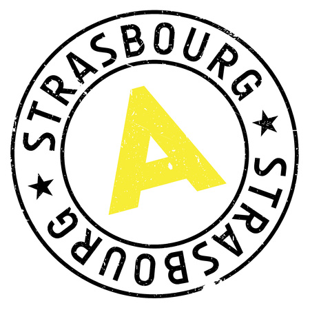 french culture: Strasbourg stamp. Grunge design with dust scratches. Effects can be easily removed for a clean, crisp look. Color is easily changed.
