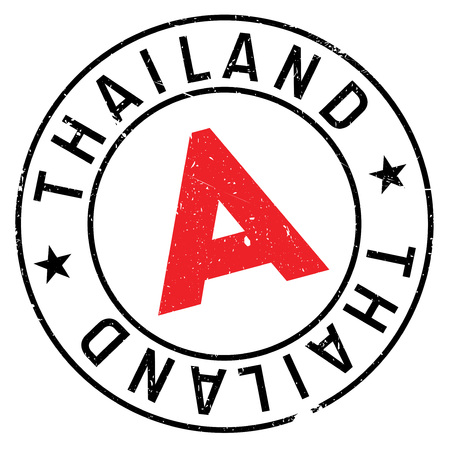 Thailand stamp. Grunge design with dust scratches. Effects can be easily removed for a clean, crisp look. Color is easily changed.