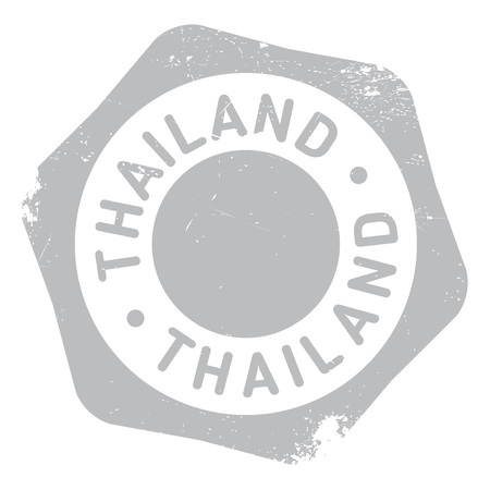 transnational: Thailand stamp. Grunge design with dust scratches. Effects can be easily removed for a clean, crisp look. Color is easily changed.
