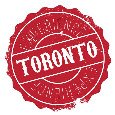 Toronto stamp. Grunge design with dust scratches. Effects can be easily removed for a clean, crisp look. Color is easily changed.