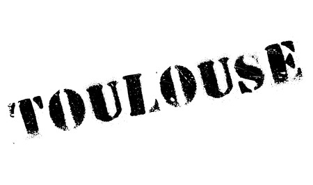 toulouse: Toulouse stamp. Grunge design with dust scratches. Effects can be easily removed for a clean, crisp look. Color is easily changed. Illustration