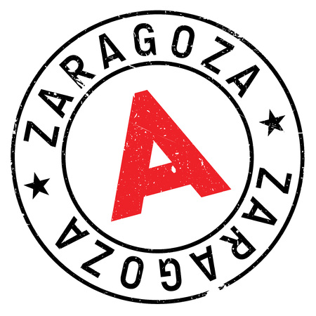 Zaragoza stamp. Grunge design with dust scratches. Effects can be easily removed for a clean, crisp look. Color is easily changed. Illustration