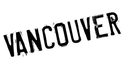 british columbia: Vancouver stamp. Grunge design with dust scratches. Effects can be easily removed for a clean, crisp look. Color is easily changed.