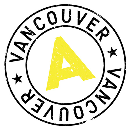 vancouver city: Vancouver stamp. Grunge design with dust scratches. Effects can be easily removed for a clean, crisp look. Color is easily changed.