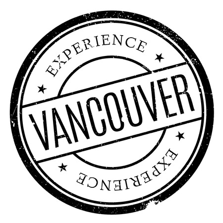 canada stamp: Vancouver stamp. Grunge design with dust scratches. Effects can be easily removed for a clean, crisp look. Color is easily changed.