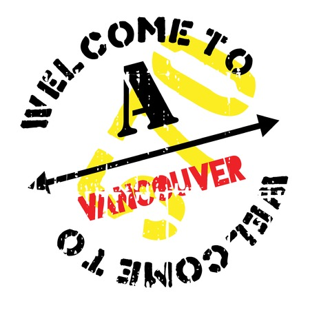 Vancouver stamp. Grunge design with dust scratches. Effects can be easily removed for a clean, crisp look. Color is easily changed.