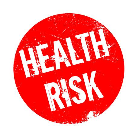 Health Risk Stempel. Grunge-Design mit Staub Kratzer. Die Effekte können leicht für einen sauberen, frischen Look entfernt werden. Die Farbe ist leicht verändert. Vektorgrafik
