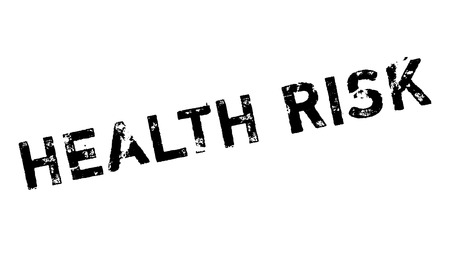 Health Risk rubber stamp. Grunge design with dust scratches. Effects can be easily removed for a clean, crisp look. Color is easily changed.