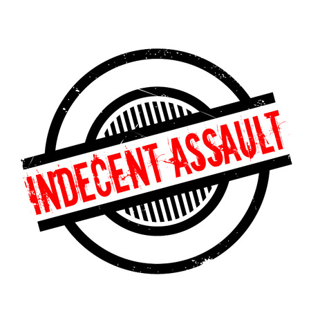 indecent: Indecent Assault rubber stamp. Grunge design with dust scratches. Effects can be easily removed for a clean, crisp look. Color is easily changed. Illustration