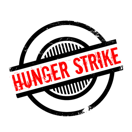 provoke: Hunger Strike rubber stamp. Grunge design with dust scratches. Effects can be easily removed for a clean, crisp look. Color is easily changed.