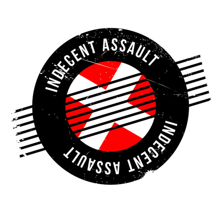 Indecent Assault rubber stamp. Grunge design with dust scratches. Effects can be easily removed for a clean, crisp look. Color is easily changed. Illustration