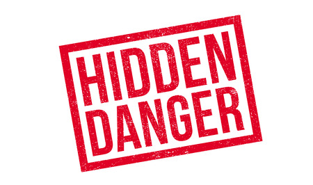 endangerment: Hidden Danger rubber stamp. Grunge design with dust scratches. Effects can be easily removed for a clean, crisp look. Color is easily changed.