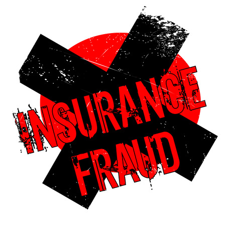 Insurance Fraud rubber stamp. Grunge design with dust scratches. Effects can be easily removed for a clean, crisp look. Color is easily changed.
