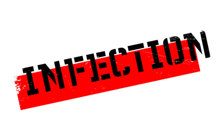 infectious disease: Infection rubber stamp. Grunge design with dust scratches. Effects can be easily removed for a clean, crisp look. Color is easily changed. Illustration