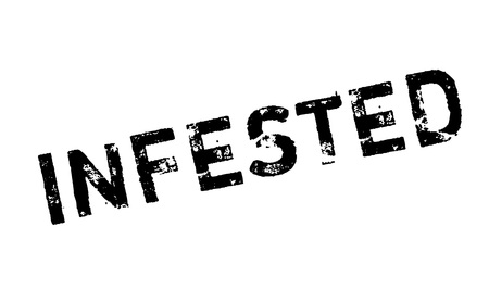 health threat: Infested rubber stamp. Grunge design with dust scratches. Effects can be easily removed for a clean, crisp look. Color is easily changed. Illustration
