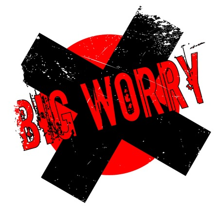 concerns: Big Worry rubber stamp. Grunge design with dust scratches. Effects can be easily removed for a clean, crisp look. Color is easily changed.