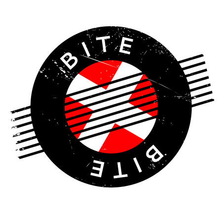 Bite rubber stamp. Grunge design with dust scratches. Effects can be easily removed for a clean, crisp look. Color is easily changed.
