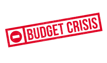 credit crunch: Budget Crisis rubber stamp. Grunge design with dust scratches. Effects can be easily removed for a clean, crisp look. Color is easily changed.