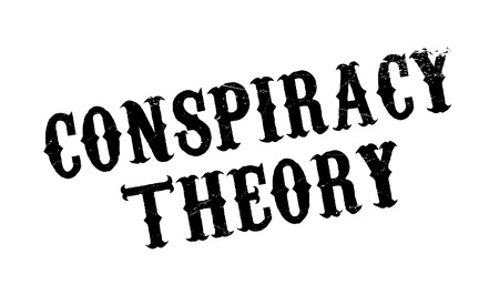 intrigue: Conspiracy Theory rubber stamp. Grunge design with dust scratches. Effects can be easily removed for a clean, crisp look. Color is easily changed.