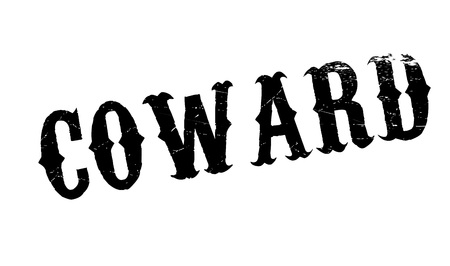 con: Coward rubber stamp. Grunge design with dust scratches. Effects can be easily removed for a clean, crisp look. Color is easily changed. Illustration
