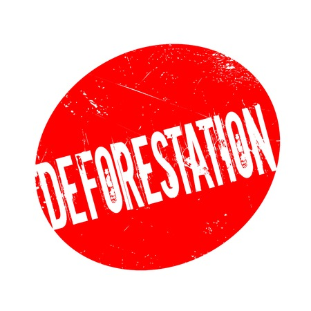 Deforestation rubber stamp. Grunge design with dust scratches. Effects can be easily removed for a clean, crisp look. Color is easily changed. Illustration
