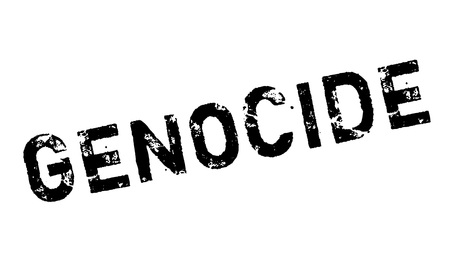 Genocide rubber stamp. Grunge design with dust scratches. Effects can be easily removed for a clean, crisp look. Color is easily changed. Illustration