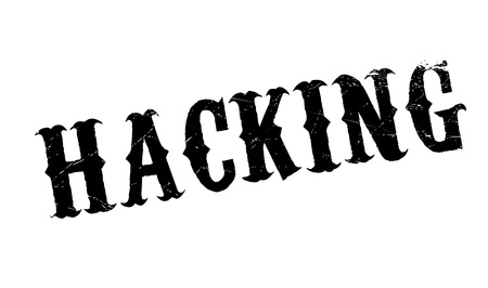 hacked: Hacking rubber stamp. Grunge design with dust scratches. Effects can be easily removed for a clean, crisp look. Color is easily changed.