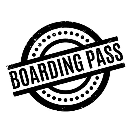 Boarding Pass rubber stamp. Grunge design with dust scratches. Effects can be easily removed for a clean, crisp look. Color is easily changed.