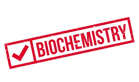 Biochemistry rubber stamp. Grunge design with dust scratches. Effects can be easily removed for a clean, crisp look. Color is easily changed. Векторная Иллюстрация