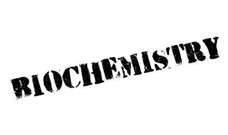 biophysics: Biochemistry rubber stamp. Grunge design with dust scratches. Effects can be easily removed for a clean, crisp look. Color is easily changed. Illustration