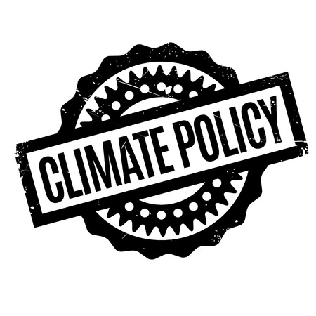 environmental policy: Climate Policy rubber stamp. Grunge design with dust scratches. Effects can be easily removed for a clean, crisp look. Color is easily changed. Illustration