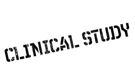 Clinical Study rubber stamp. Grunge design with dust scratches. Effects can be easily removed for a clean, crisp look. Color is easily changed.